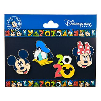 Disneyland Paris Mickey and Friends 2020 Pin Set