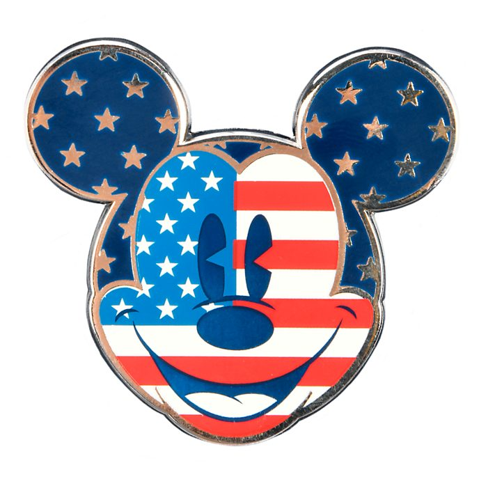 Disneyland Paris Mickey Mouse Americana Face Pin