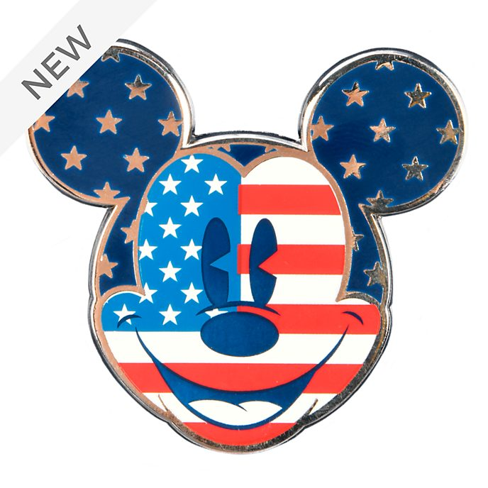 Disneyland Paris Mickey Mouse Americana Face Pin