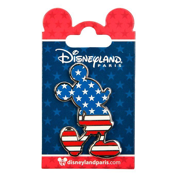 Disneyland Paris Mickey Mouse Americana Silhouette Pin