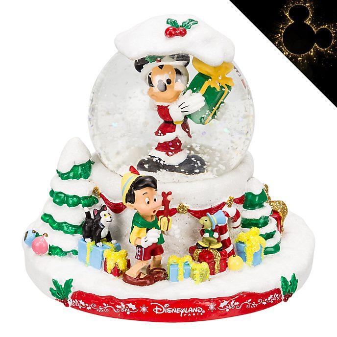 Disneyland Paris Mickey and Friends Christmas Snow Globe