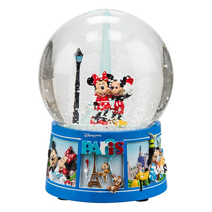 Disneyland Paris Mickey and Minnie Mouse Souvenir Snow Globe