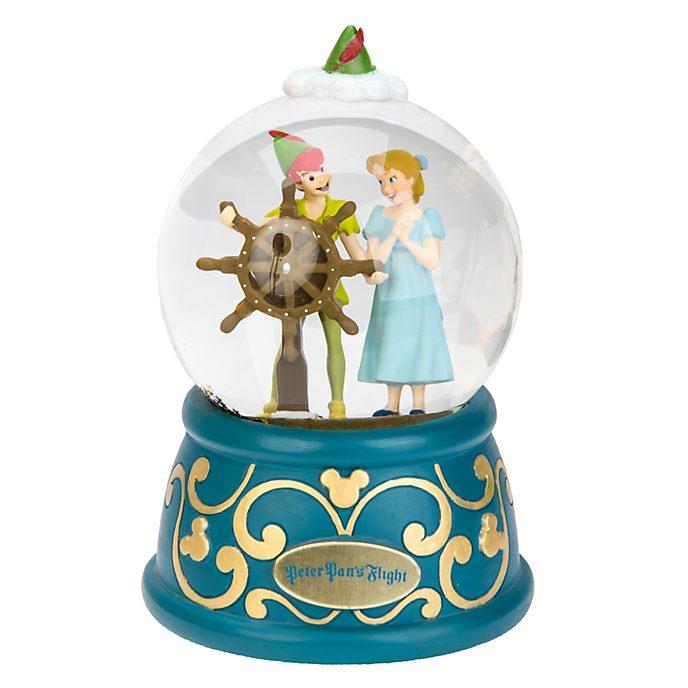 Disneyland Paris Peter Pan's Flight Snow Globe