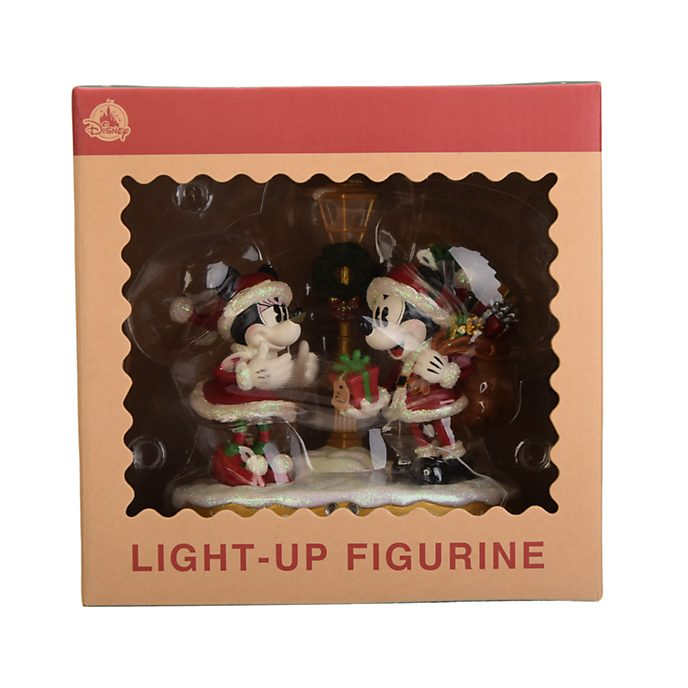 Disneyland Paris Figurine de Noël lumineuse Mickey et Minnie