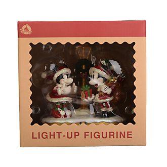Disneyland Paris Mickey and Minnie Light-Up Christmas Figurine