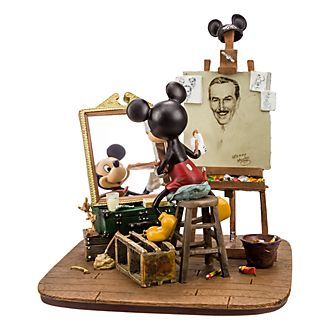 Disneyland Paris Mickey Mouse and Walt Disney Figurine