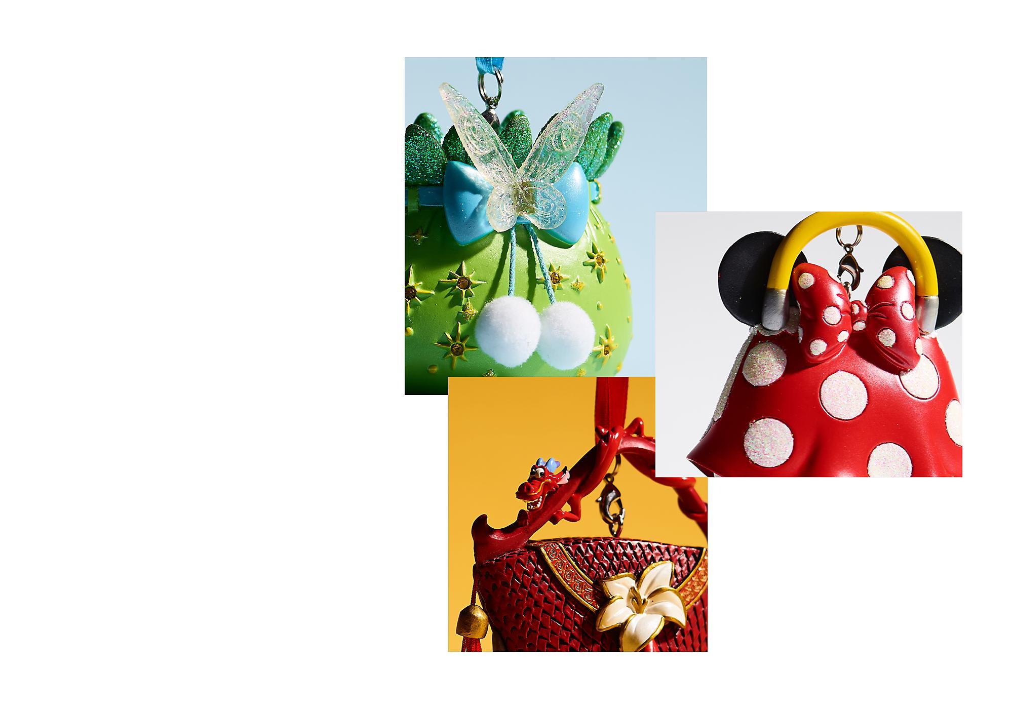 Collezione Disney Classics Questa classicissima collezione di decorazioni a forma di borsetta, ispirata ad alcuni dei film d'animazione più amati da grandi e piccini, porterà una magica atmosfera a casa tua.