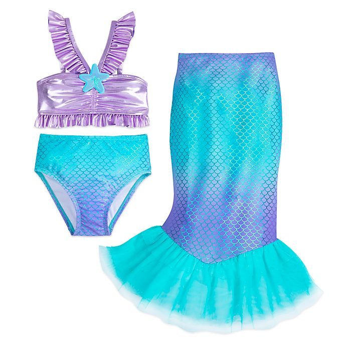Disney Store The Little Mermaid 3 Piece Swimsuit For Kids