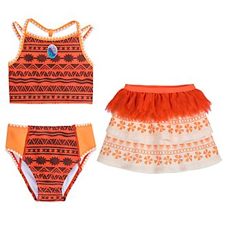 Disney Store Moana 3 Piece Swimsuit For Kids