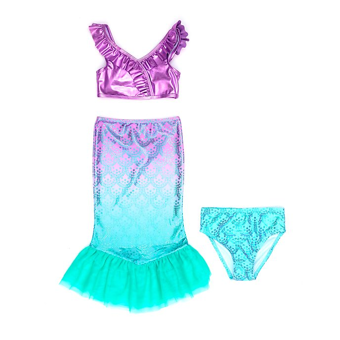 Disney Store The Little Mermaid 3-Piece Swimsuit For Kids