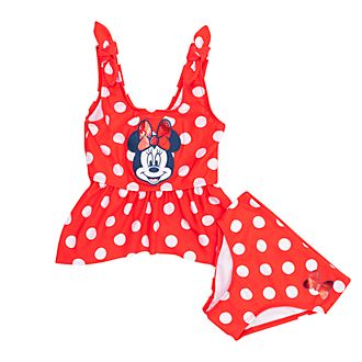 Disney Store Minnie Mouse 2 Piece Swimsuit For Kids