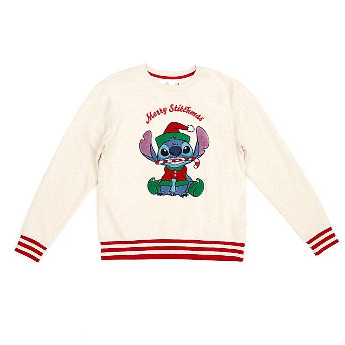 Disney Store Stitch Festive Sweatshirt For Adults