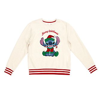 Disney Store Stitch Festive Sweatshirt For Adults