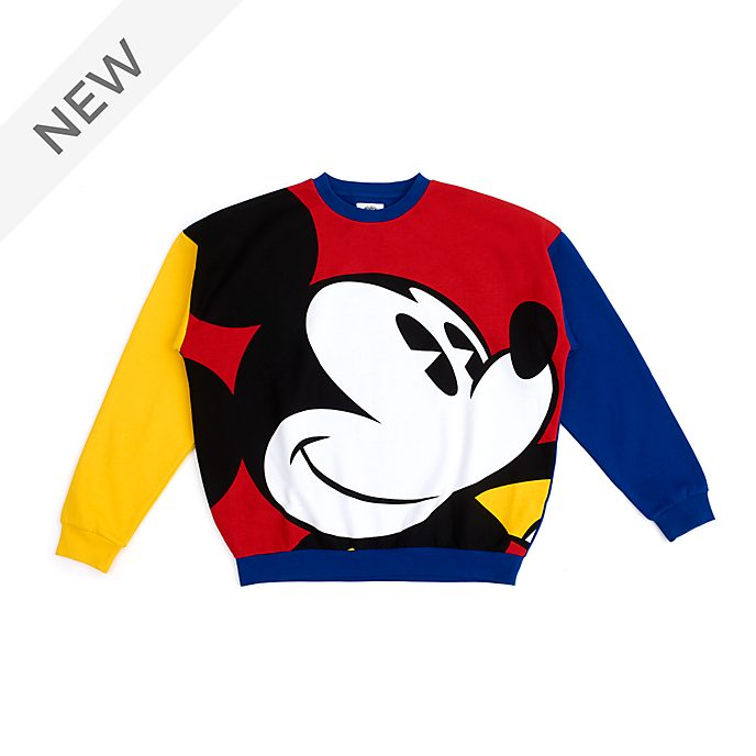 Disney Store Mickey Mouse Colour Block Sweatshirt For Adults