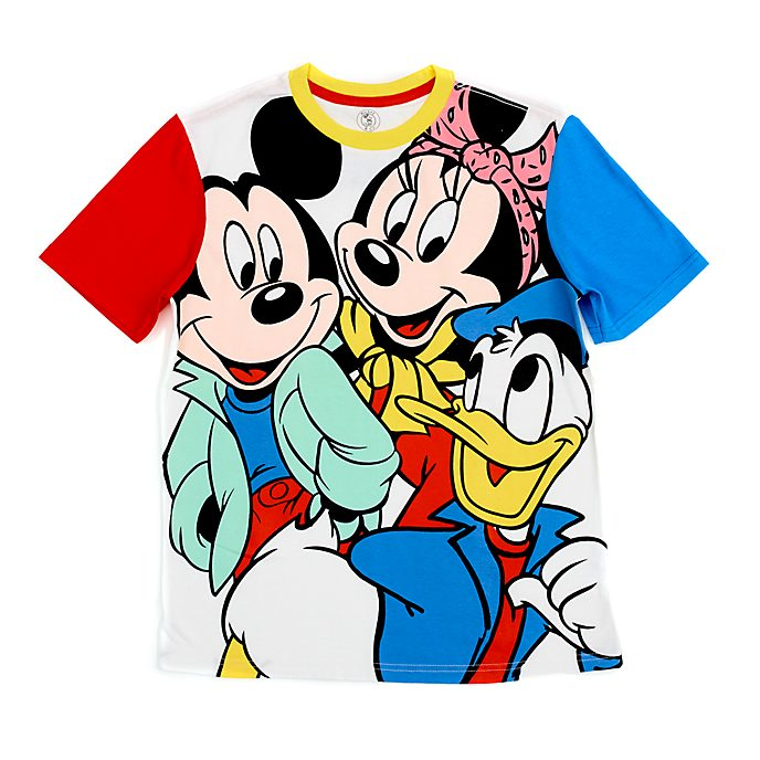 Camiseta Mickey, Minnie y Donald para adultos, Disney Store