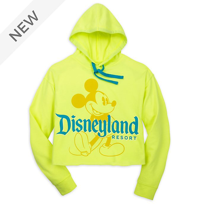 Disneyland Resort Mickey Mouse Neon Summer Hooded Sweatshirt For Adults