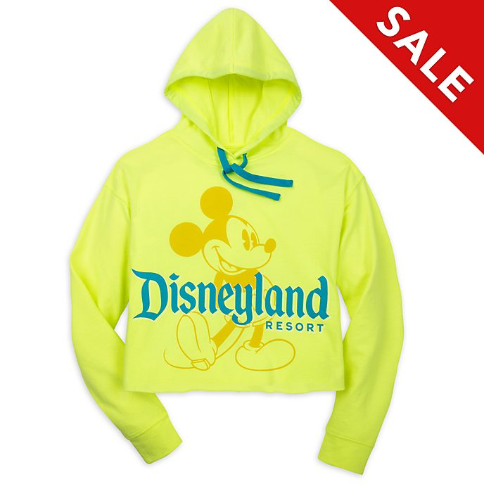 Disneyland Resort Mickey Mouse Neon Summer Hooded Sweatshirt For Adults