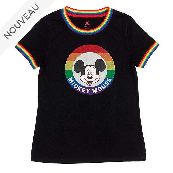 Disney Store T-shirt Mickey pour femmes, Rainbow Disney
