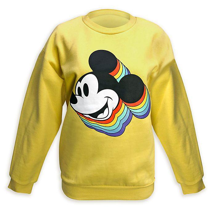 Disney Store Sweat arc-en-ciel Mickey pour adultes