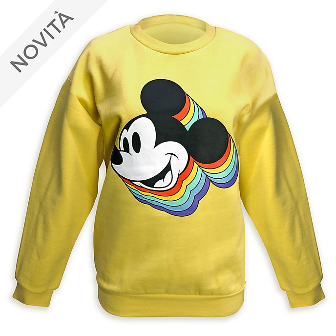 Felpa adulti Mickey Mouse Rainbow Topolino Disney Store