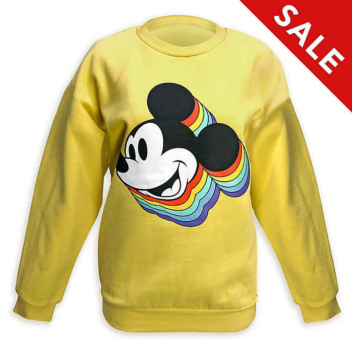 Disney Store Mickey Mouse Rainbow Sweatshirt For Adults