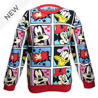 Disney Store Mickey and Friends Print Sweatshirt For Adults