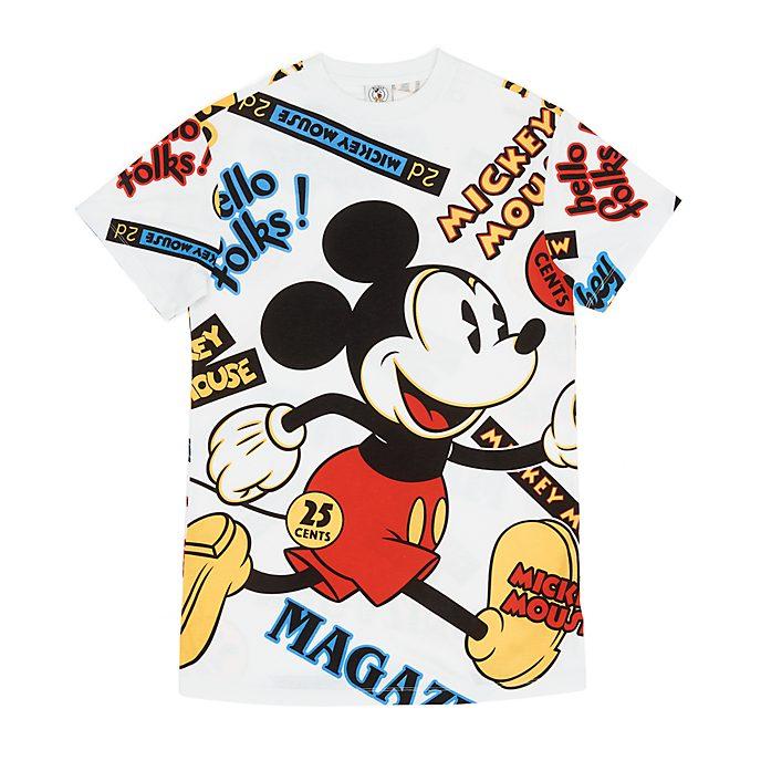 Camiseta larga Mickey Mouse para mujer, Disney Store