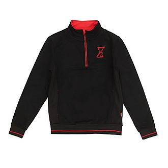 Disney Store Black Widow Zip Neck Sweatshirt For Adults