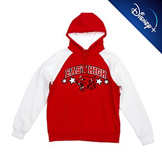 Disney Store High School Musical Raglan Hooded Sweatshirt For Adults