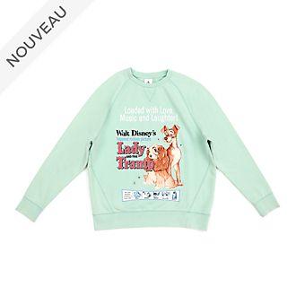 Disney Store Sweatshirt à capuche La Belle et le Clochard classique pour adultes