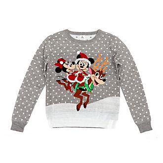 Jersey navideño Mickey y Minnie para adultos, Disney Store