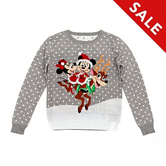 Disney Store Mickey and Minnie Christmas Jumper For Adults