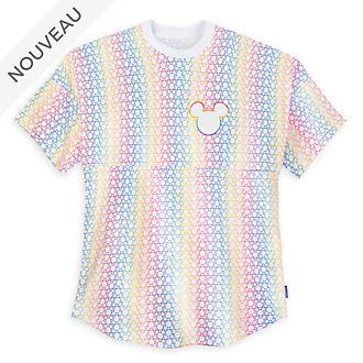 Disney Store T-shirt Spirit Jersey Mickey arc-en-ciel pour adultes
