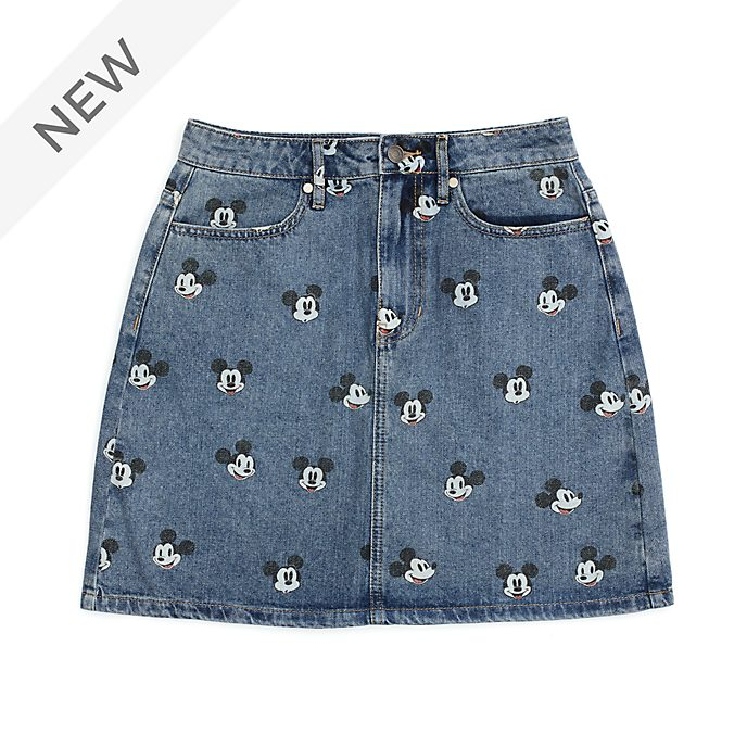 Disney Store Mickey Mouse Denim Skirt For Adults