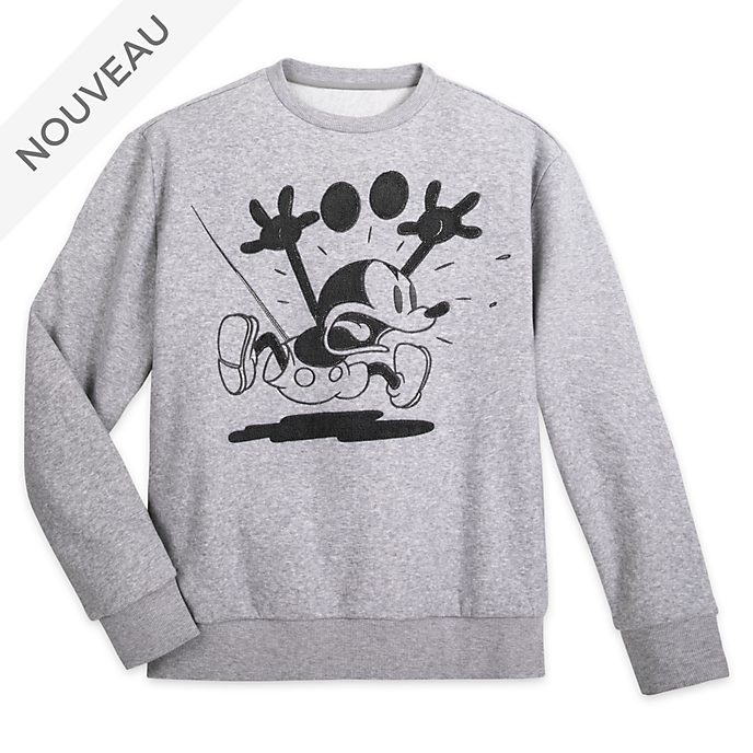 Disney Store Sweat Mickey Mouse Greyscale pour adultes