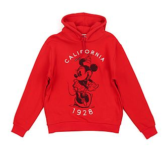 Disney Store Minnie Mouse Red and White Hooded Sweatshirt For Adults