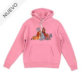 Sudadera con capucha La Dama y el Vagabundo para adultos, Disney Store