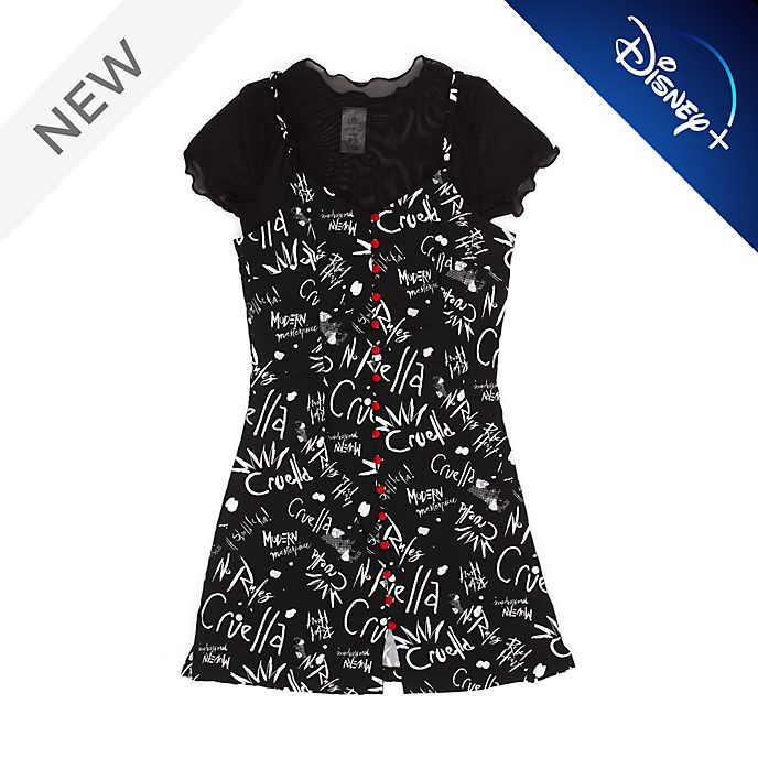Disney Store Cruella Dress and T-Shirt Set For Adults
