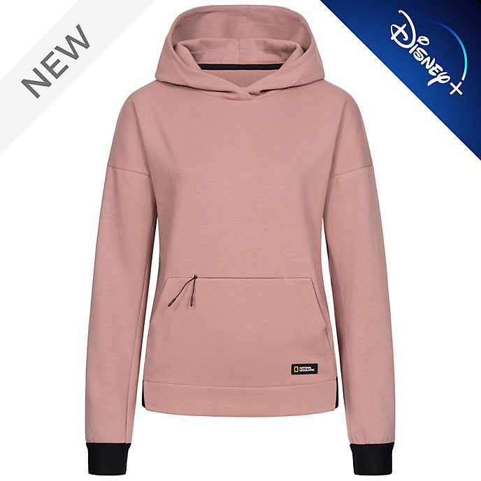 Disney Store National Geographic Pink Hooded Sweatshirt For Adults