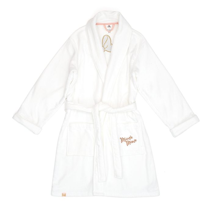 Disney Store Minnie Mouse Cotton Bath Robe For Adults