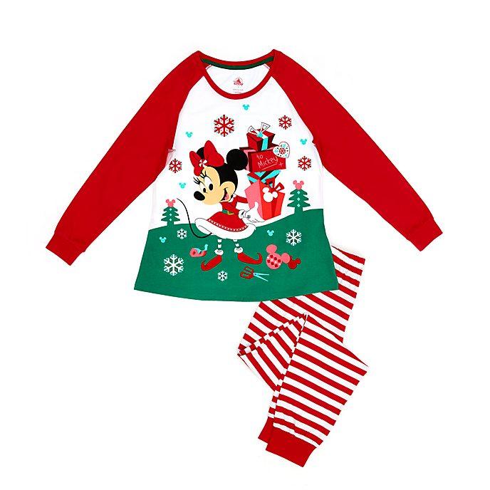 Disney Store Pyjama Minnie en coton biologique pour femmes, Holiday Cheer