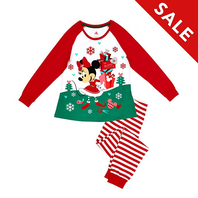 Disney Store Minnie Mouse Holiday Cheer Organic Cotton Ladies' Pyjamas