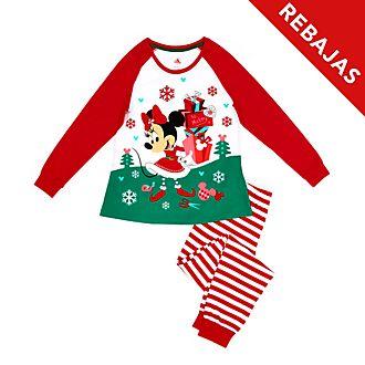 Pijama de algodón ecológico Minnie Mouse para mujer, Holiday Cheer, Disney Store