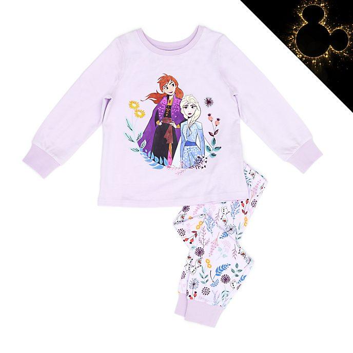 Disney Store Pyjama Anna et Elsa en coton biologique pour enfants, La Reine des Neiges2