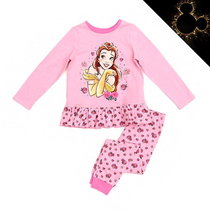 Disney Store Pyjama Belle en coton biologique pour enfants, La Belle et la Bête