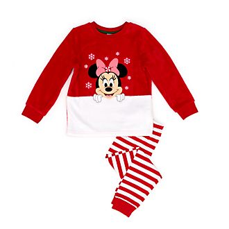 Disney Store Pyjama molletonné Minnie pour enfants, Holiday Cheer