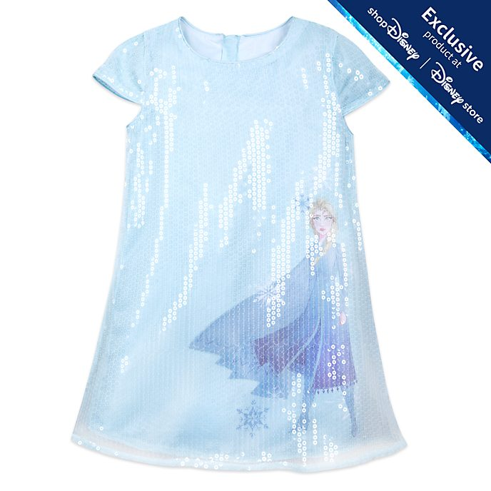 Disney Store Elsa Sequin Dress For Kids, Frozen 2