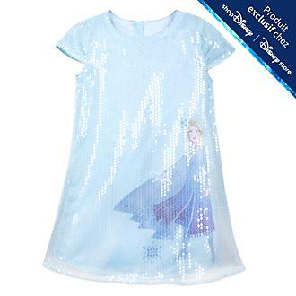 Disney Store Robe à sequins Elsa pour enfants, La Reine des Neiges2