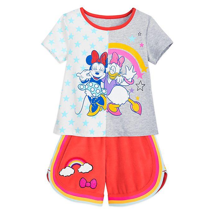 Completo maglietta e pantaloncini bimbi Minni e Paperina Disney Store