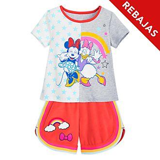 Conjunto infantil camiseta y pantalones cortos Minnie y Daisy, Disney Store
